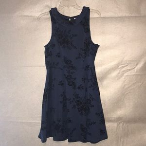 Adorable navy and black dress
